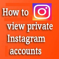 how to view private account on instagram