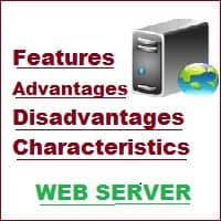 features of web server